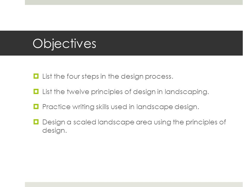 Principles Of Design List : Principles and elements of landscape design ppt download