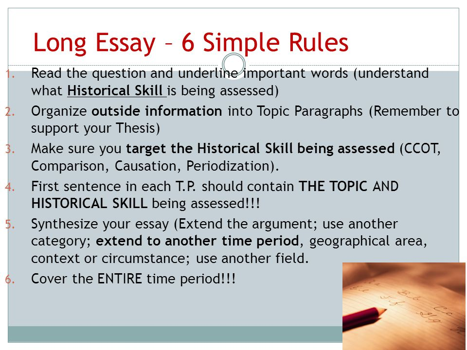 simple rules of essay writing Writing a college application essay is not easy, these are some useful hints and tips on how to construct and write the best essay possible.