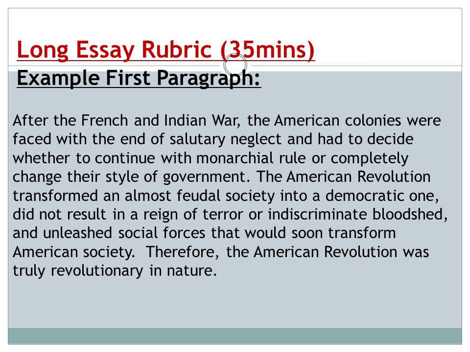american revolution essay outline