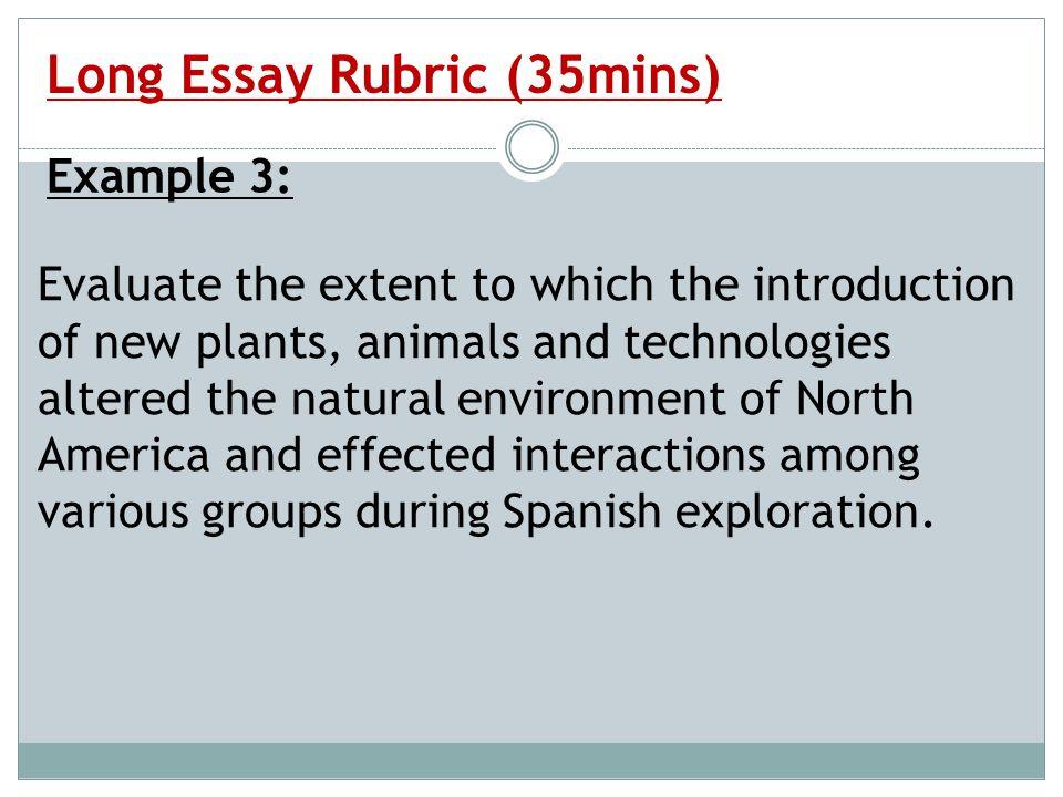 the long essay response essay frq ppt video online  long essay rubric 35mins