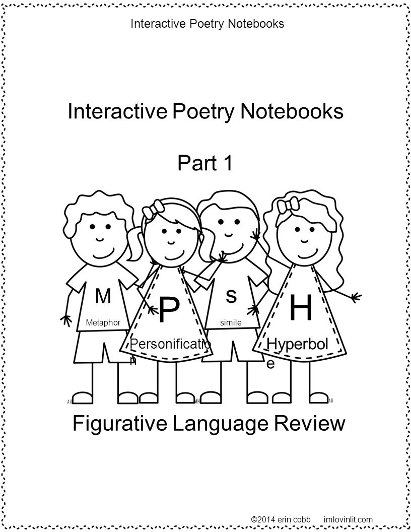 P H s Interactive Poetry Notebooks Part 1 Figurative Language Review M