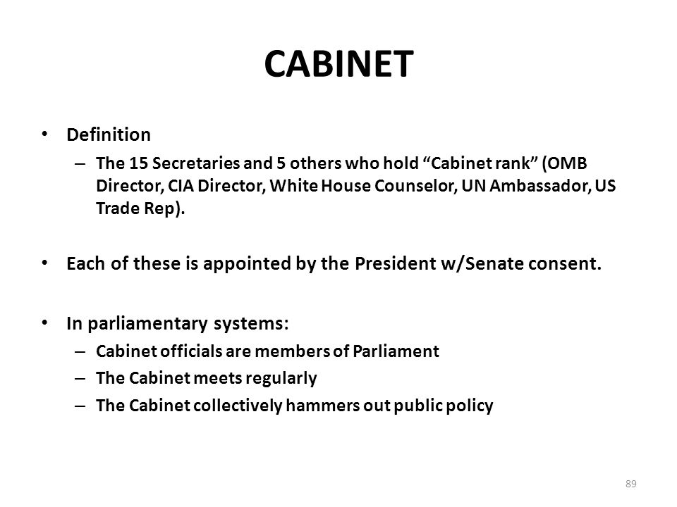 Cabinet Officials Definition - thesecretconsul.com