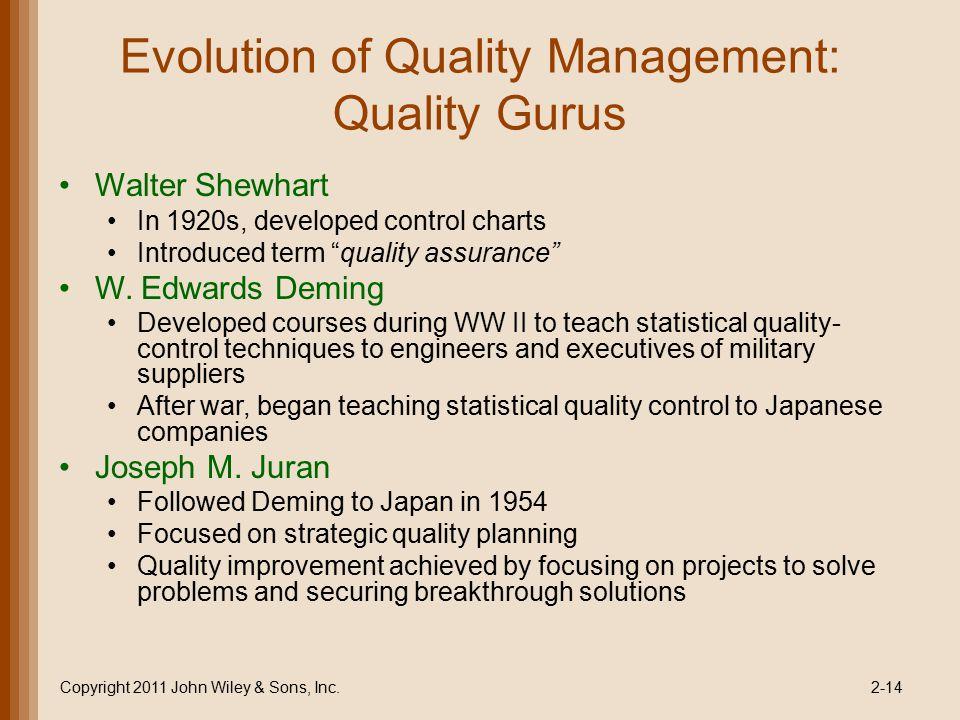 "operations management tqm and quality gurus The international organization for standardization defines total quality  management, or tqm as ""a management approach for an organization, centered  on."