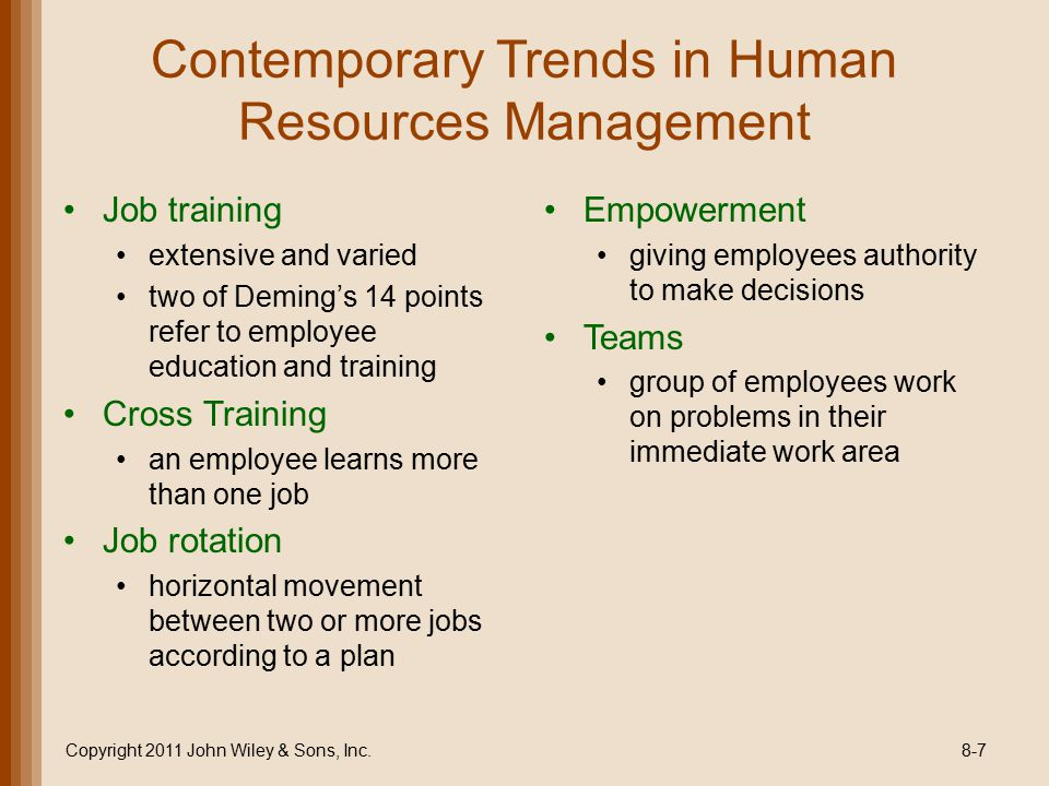 contemporary human resource management pdf