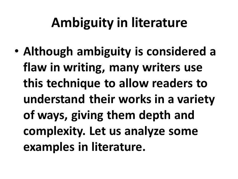 Definition Of Ambiguity Ppt Video Online Download