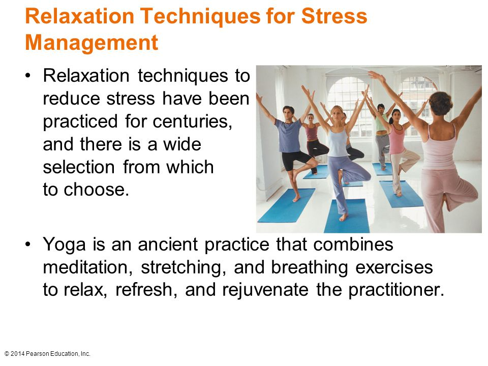 Stress management with relaxation exercises and visualization