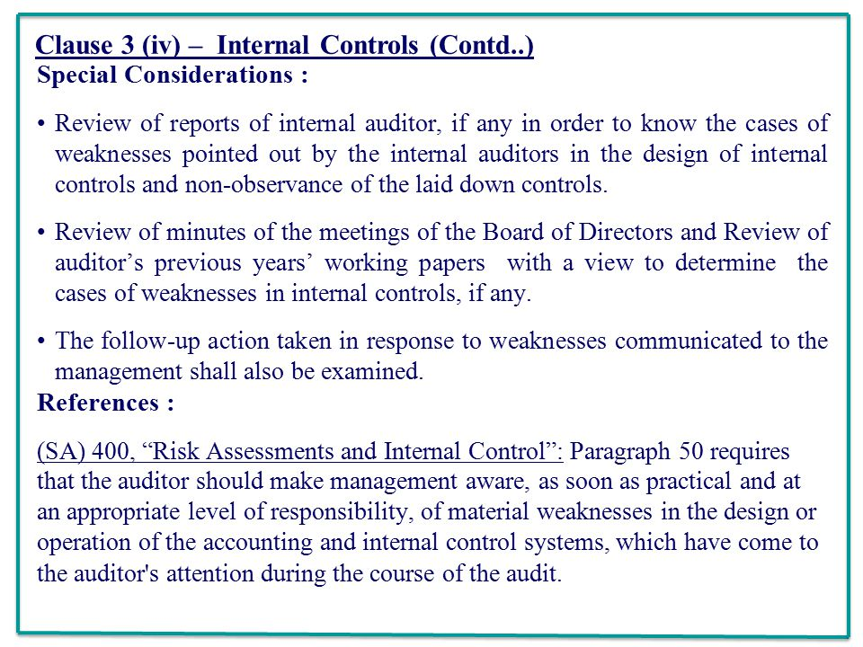 REPORTING UNDER CARO CA TSVENKATESWARAN Ppt Download - Non responsibility clause