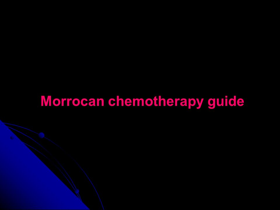 Morrocan chemotherapy guide