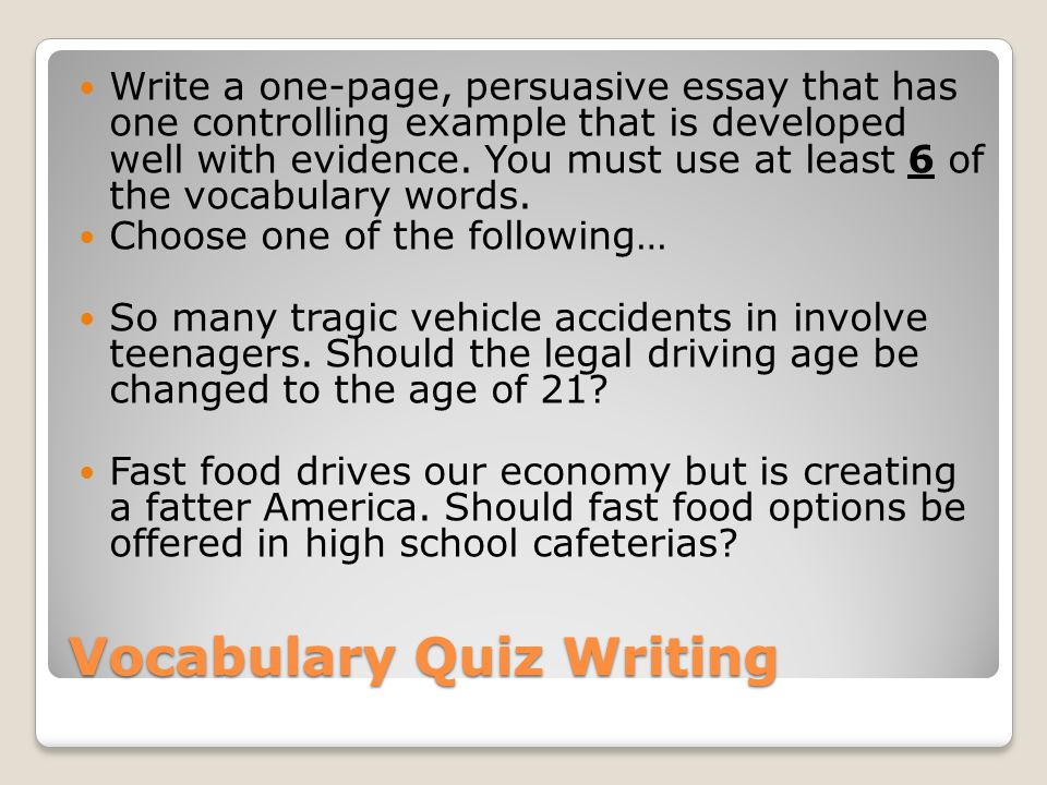Creative writing service quizzes