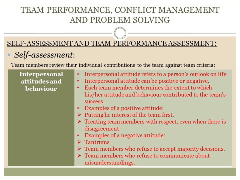 """individual and team assessment Assessments can serve as a manager's """"operator's manual"""" for their people by  giving them an objective inside look at the behaviors and motives of individuals."""