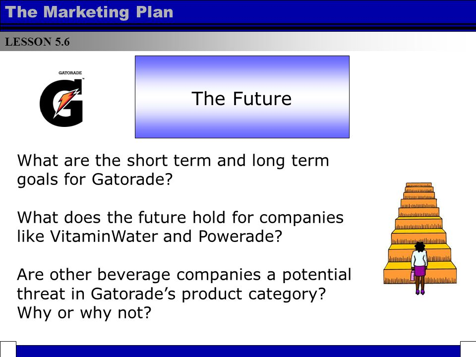 marketing plan of gatorade Pepsico marketing plan essay pepsico marketing plan essay 3692 words sep 24th, 2012 15 pages show more table of content starbucks, quaker and gatorade.