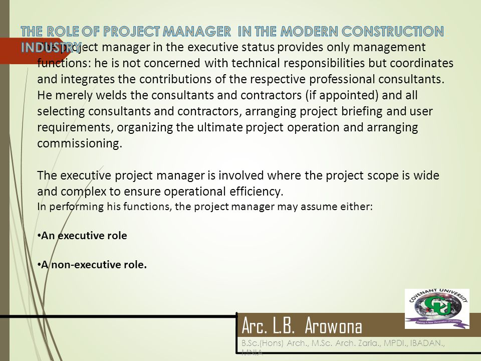 the role of project manager From the rational edge: mike hanford asks some basic questions about program management and discusses practices associated with this discipline he explains relationships between project management and program management roles and techniques, noting significant differences.