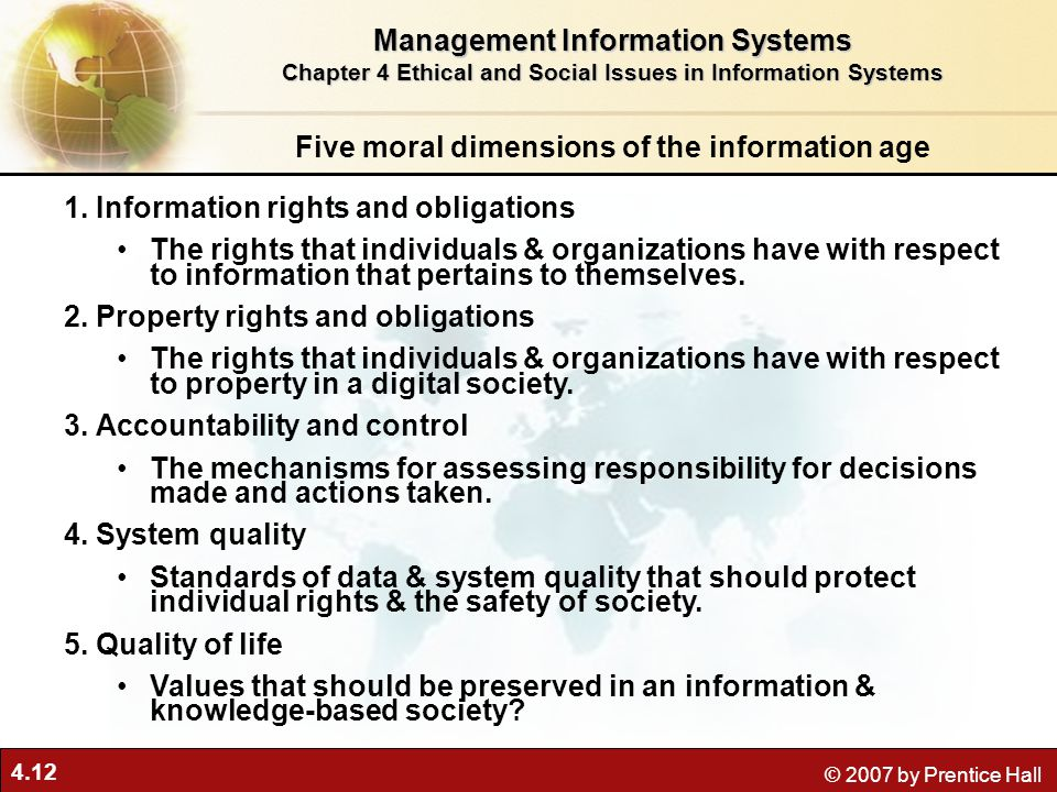 ethical and social issues in information View test prep - quiz 4_ ethical and social issues in information systems flashcards _ quizlet from is 300 at university of maryland baltimore 9/30/2016 quiz4:ethicalandsocialissuesininformationsyste.