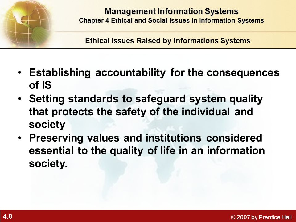 political issues raised by information systems What ethical, social, and political issues are raised by in many, information systems used to bury decisions from public scrutiny ethics.