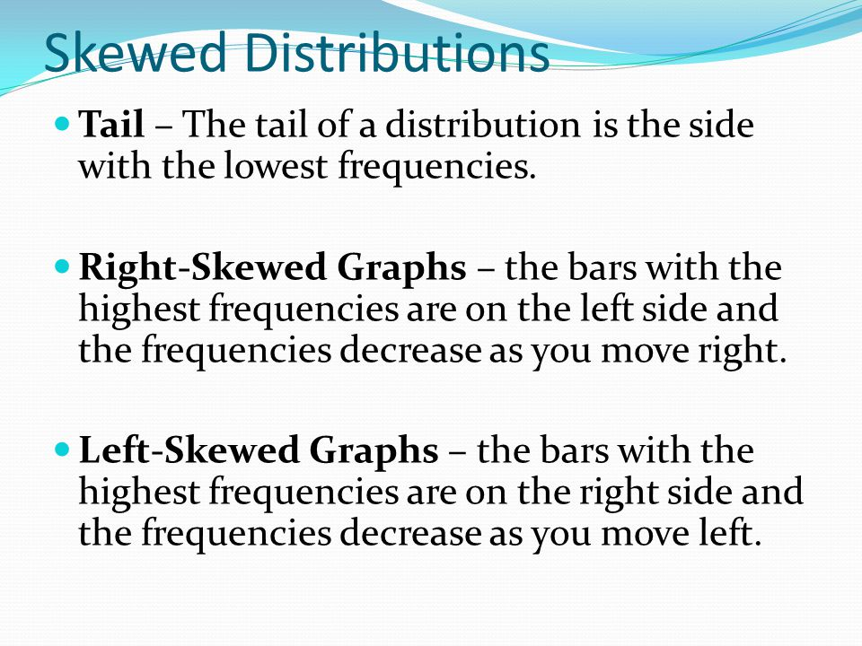 how to tell if the distribution is left skewed