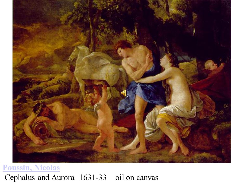 Poussin, Nicolas Cephalus and Aurora 1631-33 oil on canvas