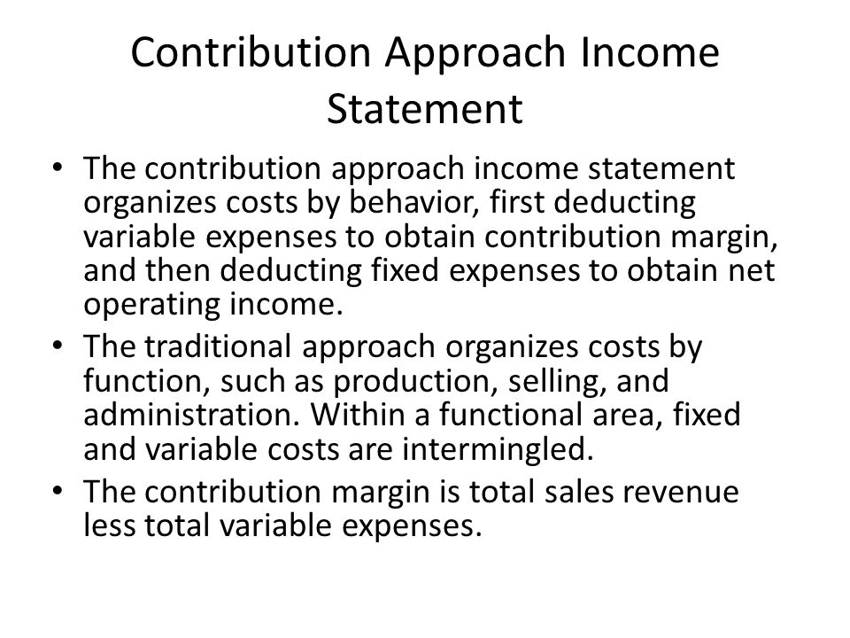 contribution margin behavioral variable income statement for lewis company