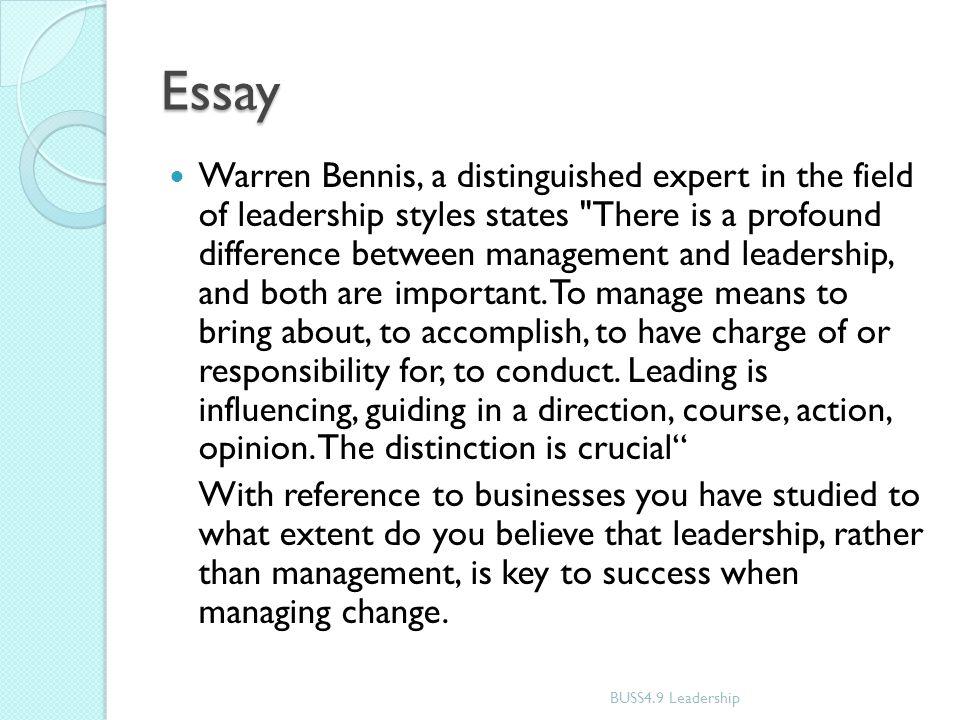 managing change essay