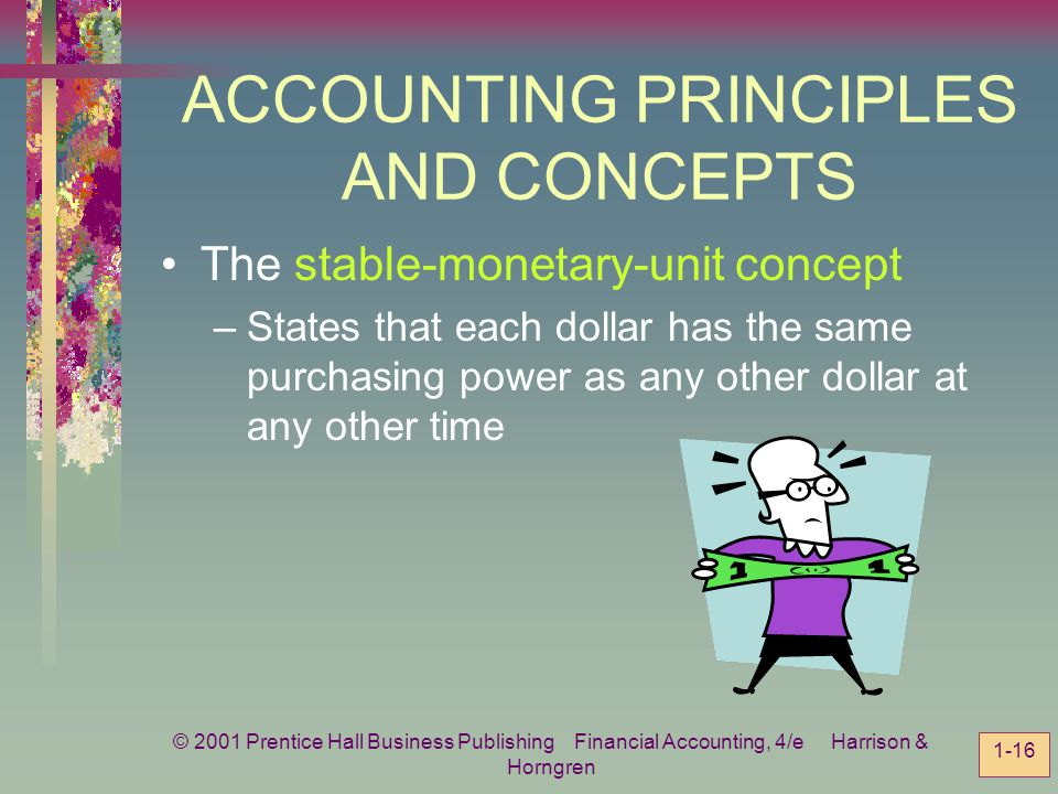 ACCOUNTING PRINCIPLES AND CONCEPTS