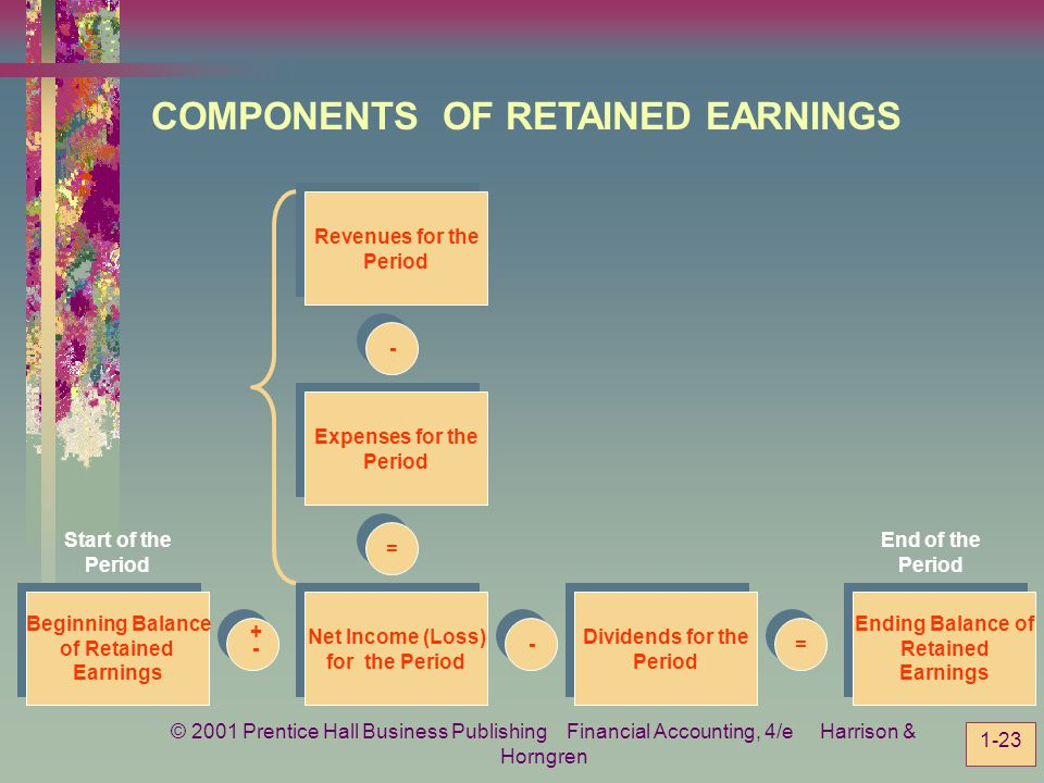 COMPONENTS OF RETAINED EARNINGS