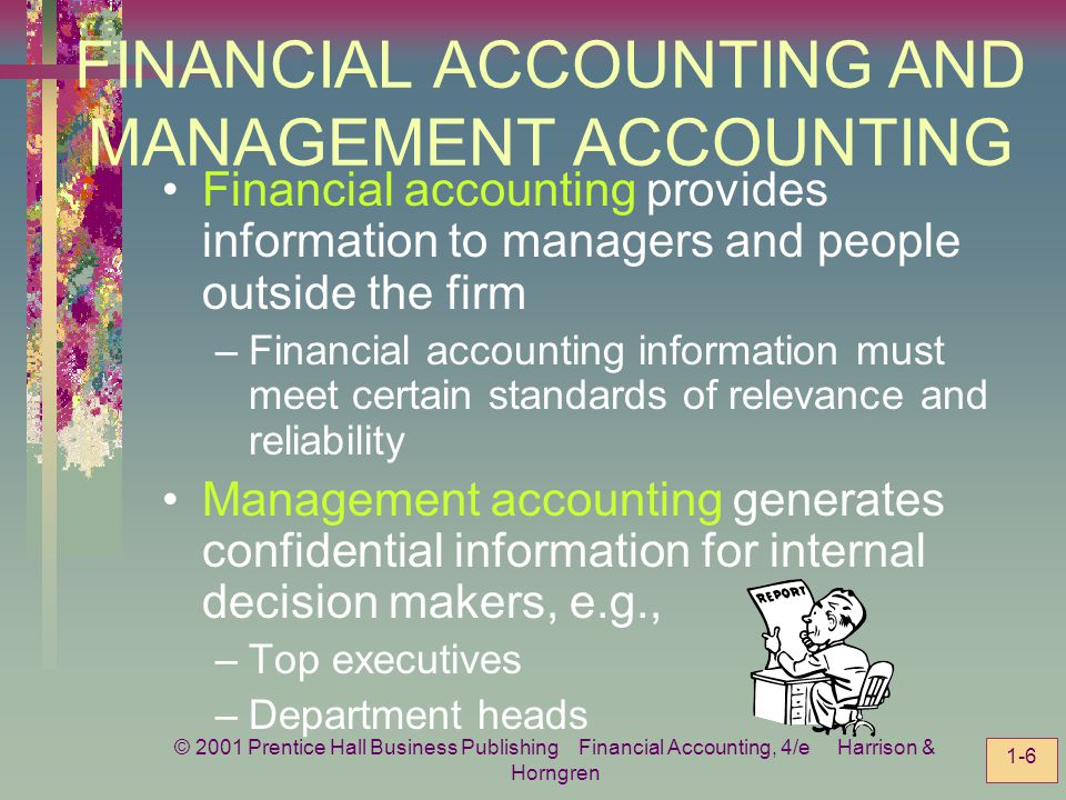 FINANCIAL ACCOUNTING AND MANAGEMENT ACCOUNTING