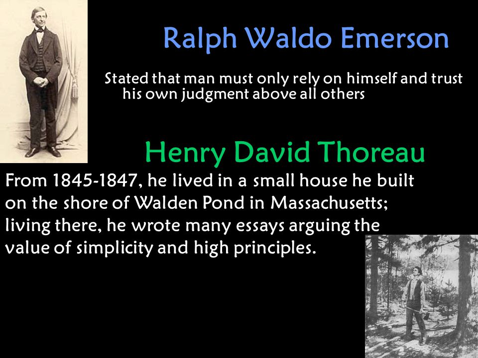 emerson thoreau essay topics