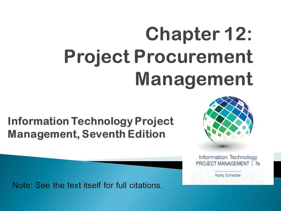 chapter 12 project procurement management ppt video