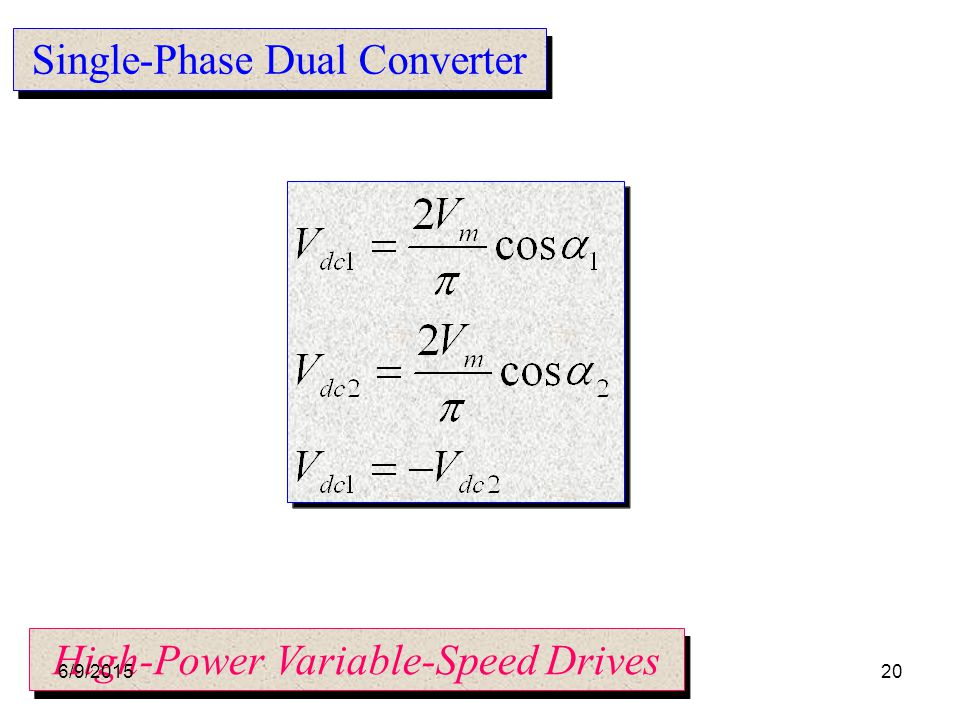 Single-Phase Dual Converter