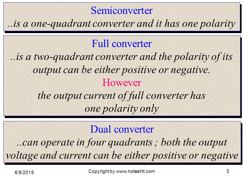 ..is a one-quadrant converter and it has one polarity