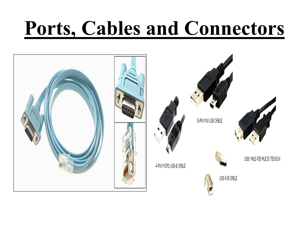 Computer Ports Connectors And Cables : Ports cables and connectors ppt video online download