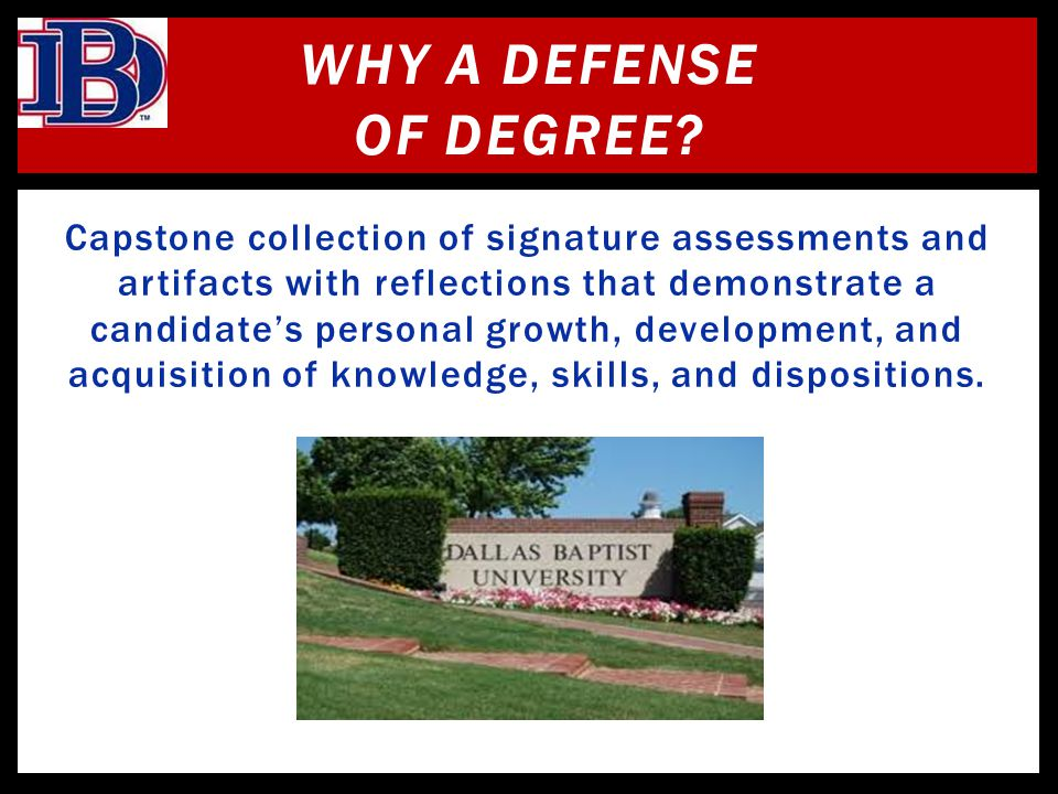 Why a Defense of Degree