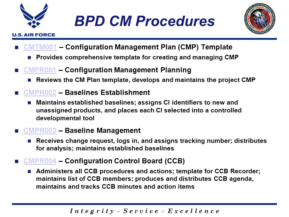 Bpd Configuration Management Training - Ppt Video Online Download