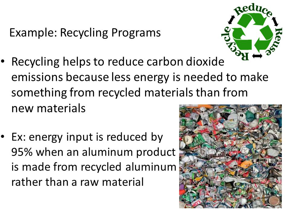 Example: Recycling Programs