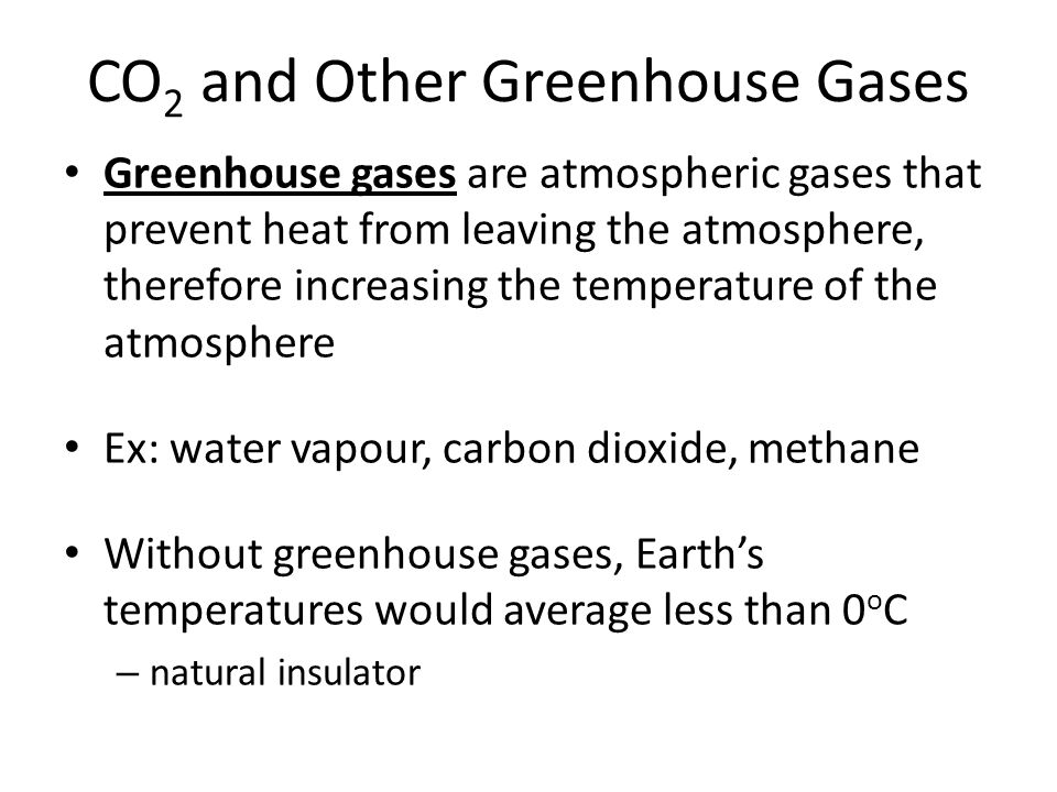 CO2 and Other Greenhouse Gases