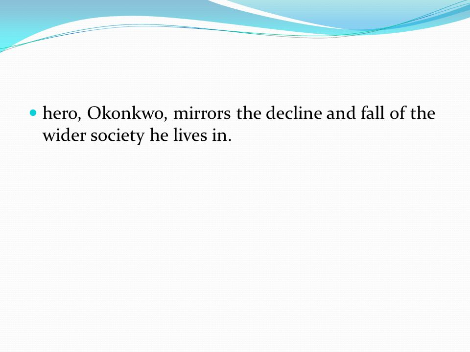 essay about okonkwo being a tragic hero Essay comparison of okonkwo and gilgamesh things fall apart and gilgamesh despite being conceived and nature of tragic hero the nature of the.