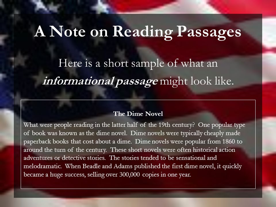Essay on dime novels