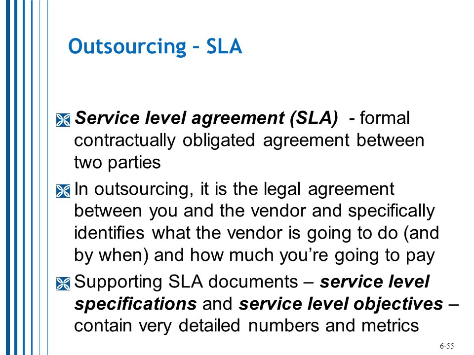 It Outsourcing Service Level Agreement It Outsourcing