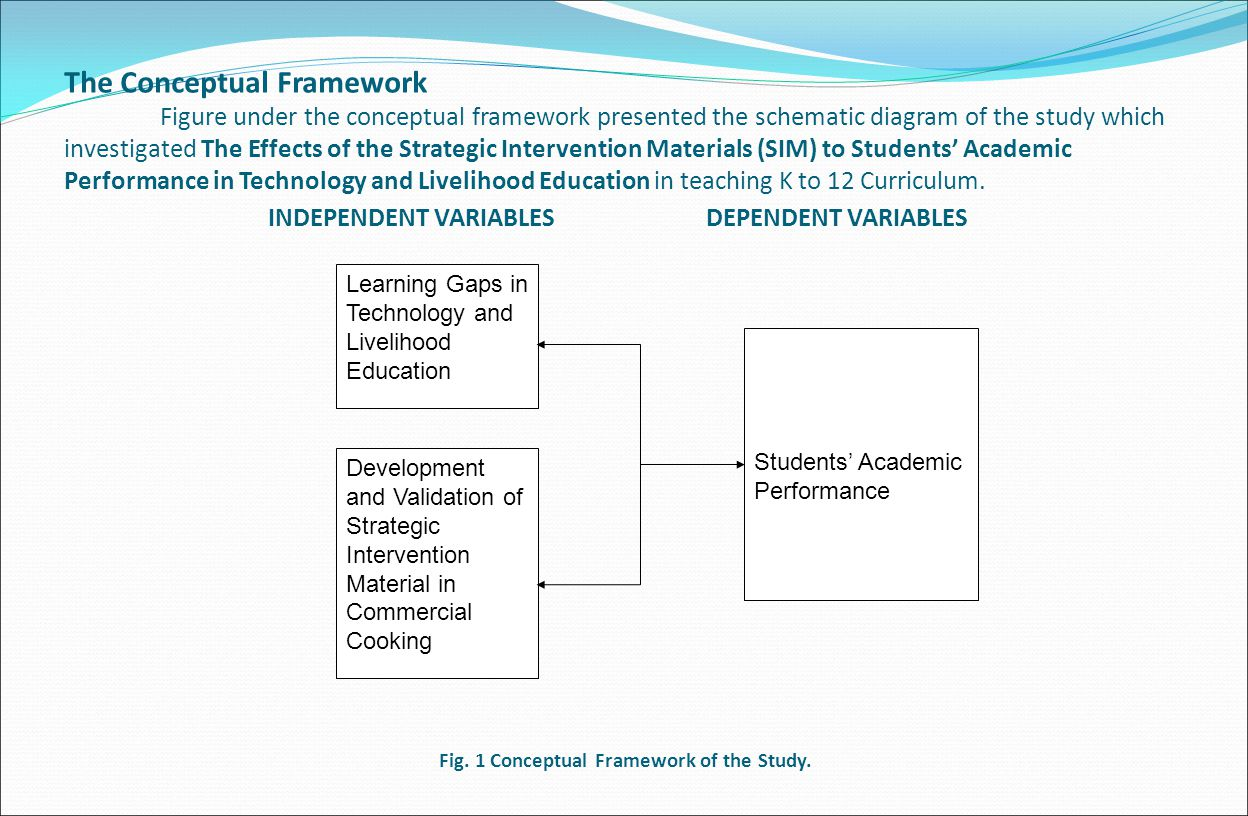 The Conceptual Framework