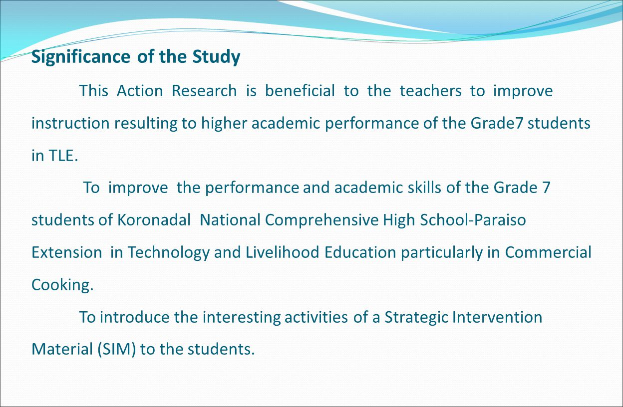 example of significance of study in research paper