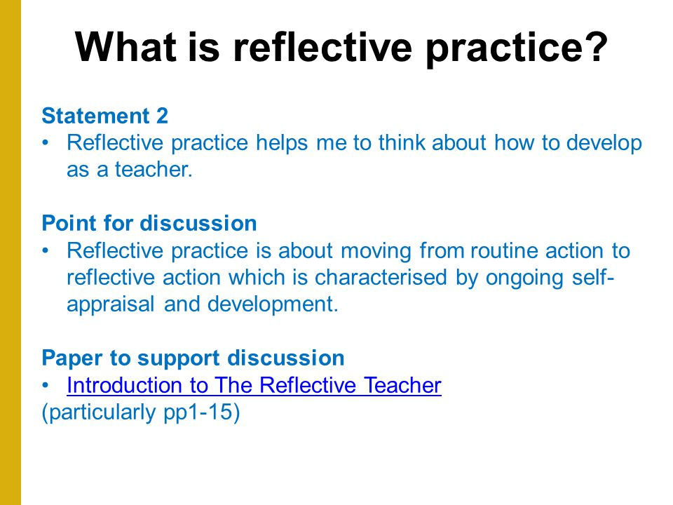 Reflective coach practical session 1st February