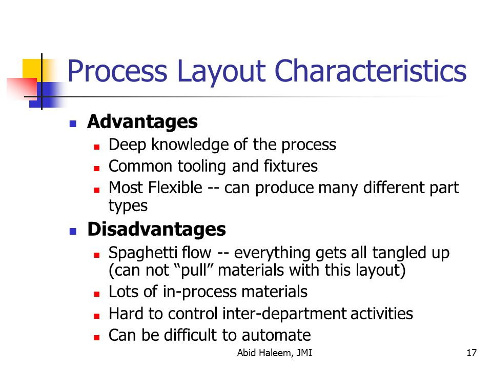 Process Layout Characteristics
