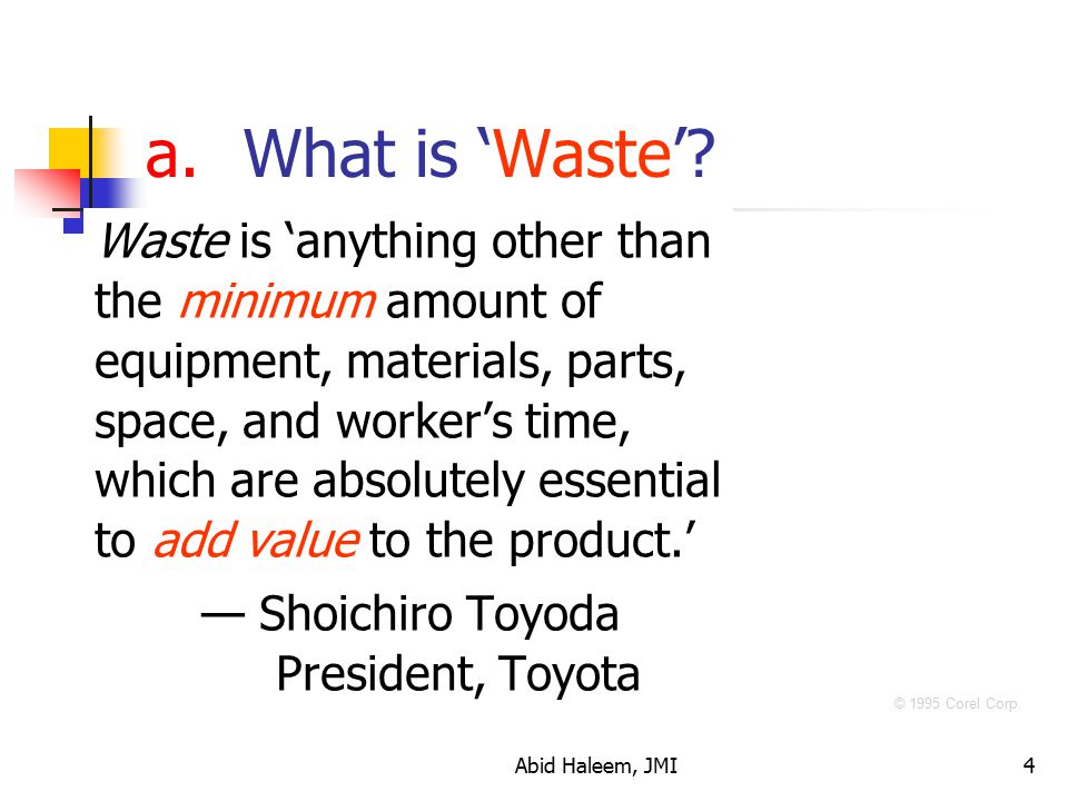 What is 'Waste'