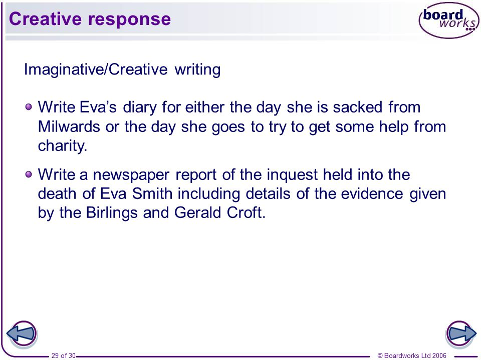 essay creative response Read this essay on creative paragraph in response to girl, by jamaica kincaid come browse our large digital warehouse of free sample essays get the knowledge you need in order to pass your classes and more.