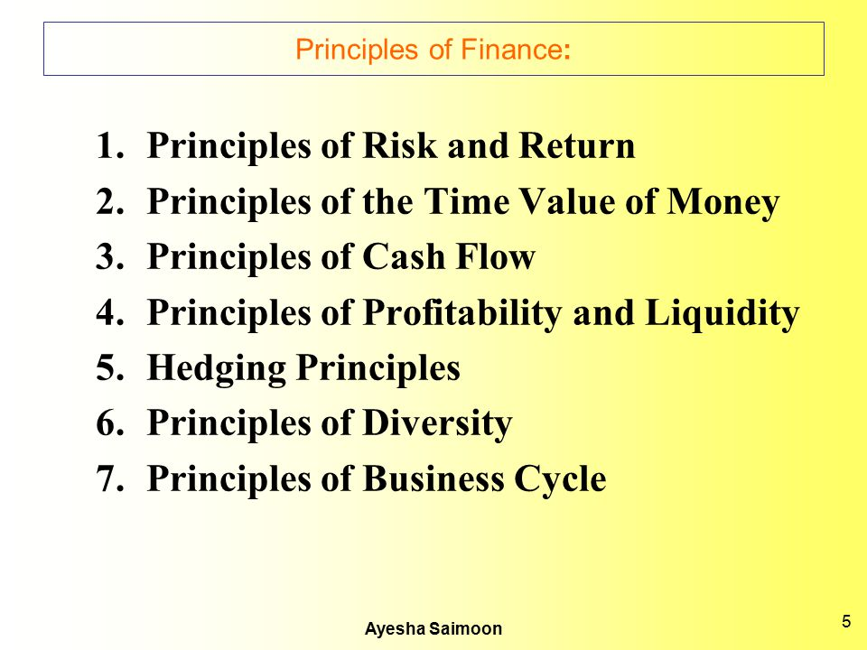Principles of Finance: