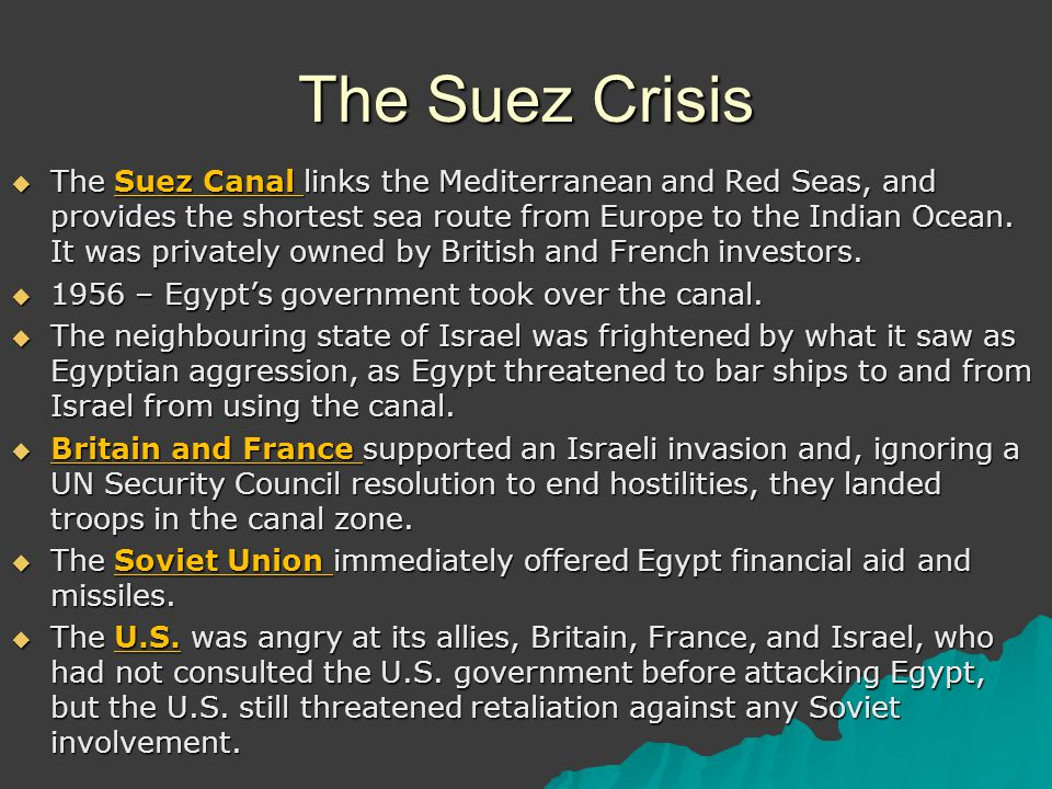 canadian involvement in the suez crisis Canadian involvement in the suez crisis uploaded by lynt on jun 21, 2001 eleven years after the second world war, a crisis occurred which had the potential to escalate into a third world.