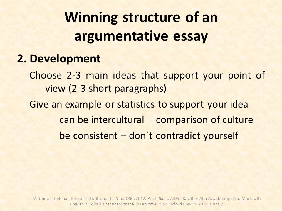 one-sided argumentative essay structure Need a topic for an argument essay, debate, or speech the best topic is often one that you truly care about, but make sure you can backup your claim.