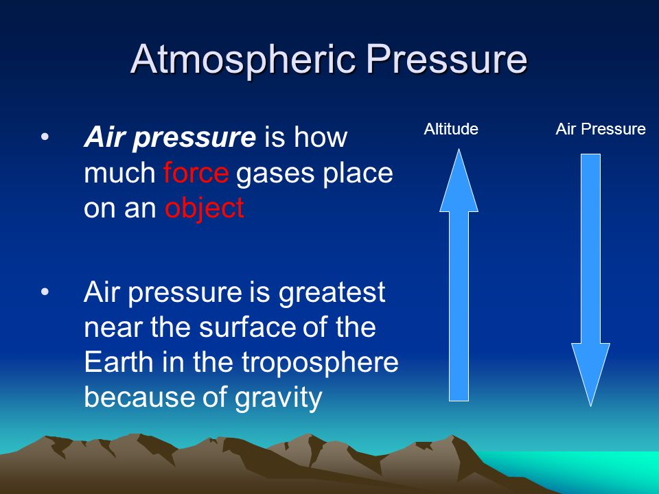 Free sample essay on Air Pressure