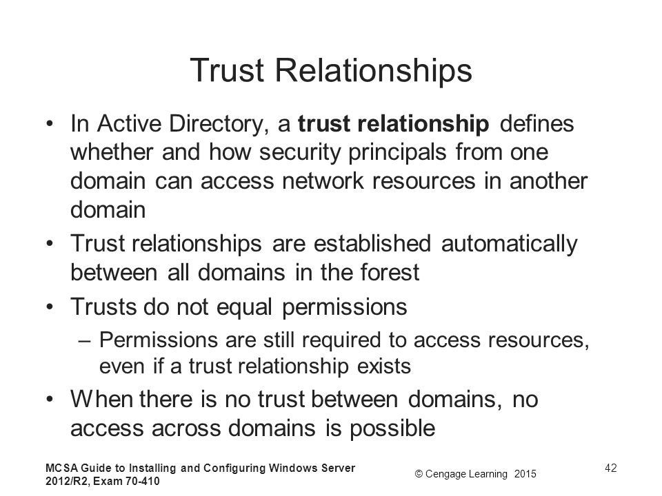 security group and trust relationship