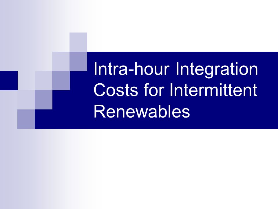 Intra-hour Integration Costs for Intermittent Renewables