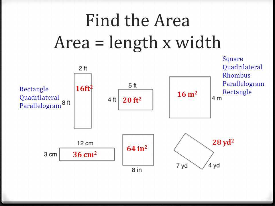 Find Width And Length Of 28 Images Area Formula Your